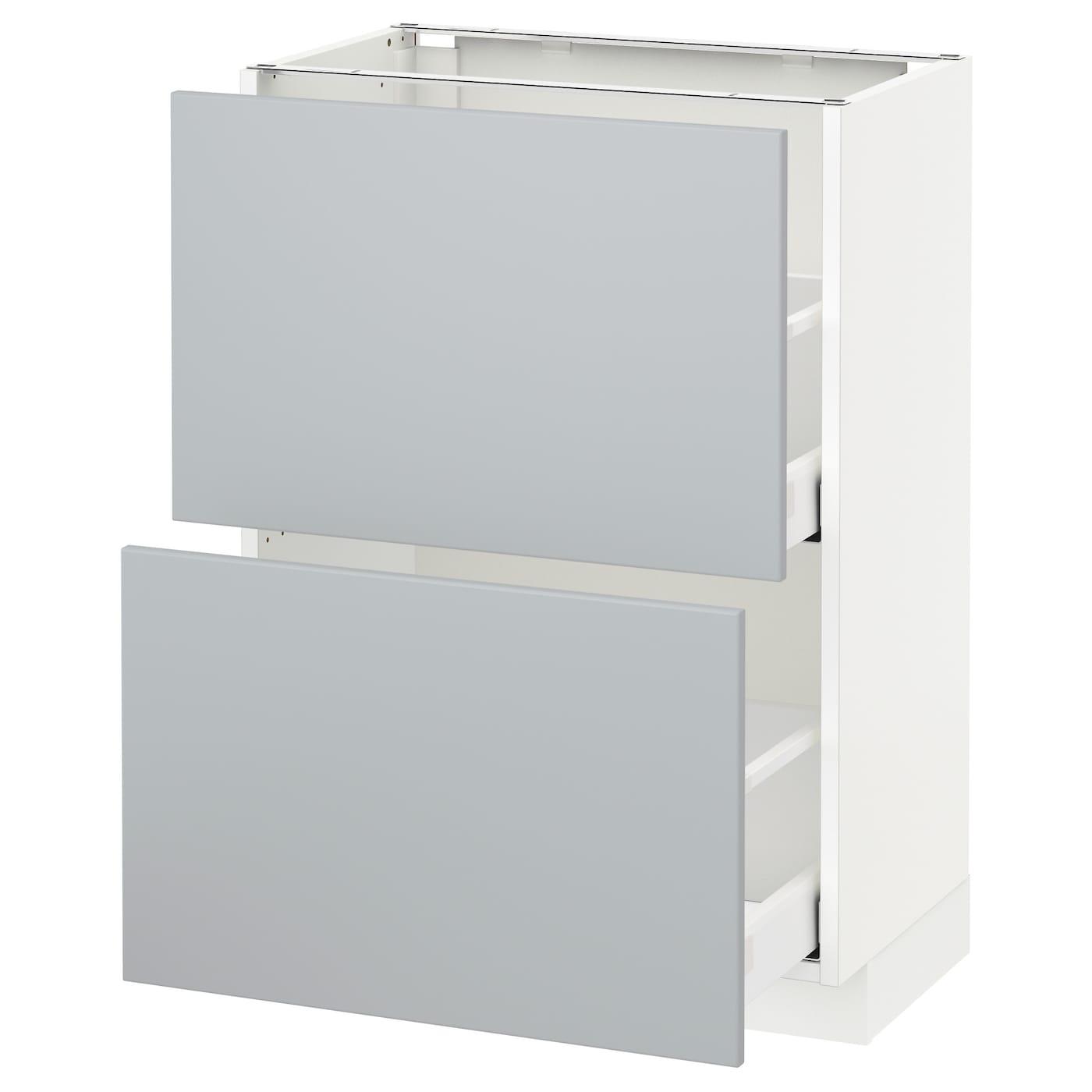 METOD, Unterschrank mit 2 Schubladen, weiß 892.693.73