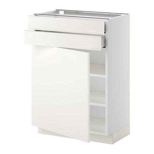 METOD Unterschrank mit Tür+2 Schubladen - weiß, Häggeby ...