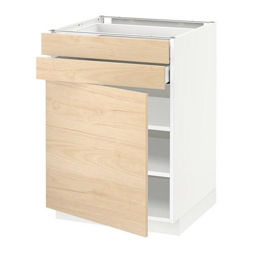 metod unterschrank mit t r 2 schubladen wei askersund eschenachbildung hell 60x60 cm ikea. Black Bedroom Furniture Sets. Home Design Ideas