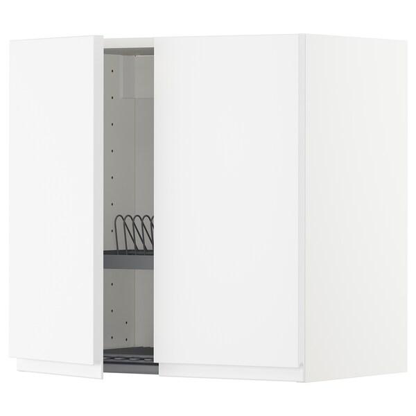 METOD Wandschrank/Abtropfgest./2 Türen weiß/Voxtorp matt weiß 60.0 cm 38.6 cm 60.0 cm