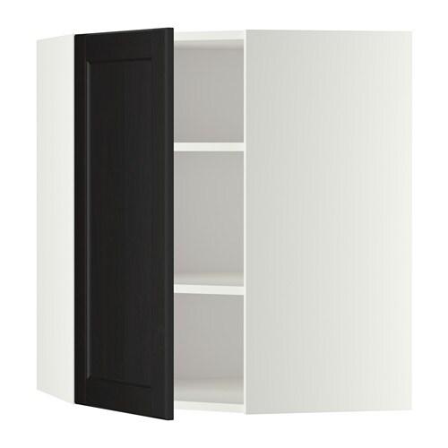 Ikea Kuche Laxarby Weiß :  mit Böden  weiß, Laxarby schwarzbraun, 68×80 cm  IKEA