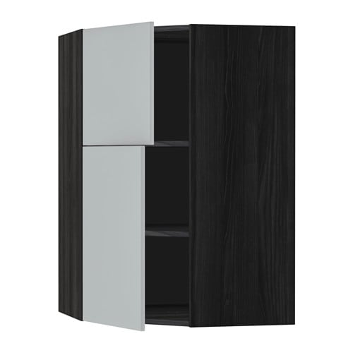 metod wandeckschrank mit b den 2 t ren holzeffekt schwarz veddinge grau ikea. Black Bedroom Furniture Sets. Home Design Ideas