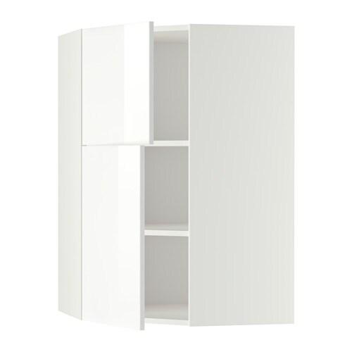 metod wandeckschrank mit b den 2 t ren wei ringhult hochglanz wei ikea. Black Bedroom Furniture Sets. Home Design Ideas