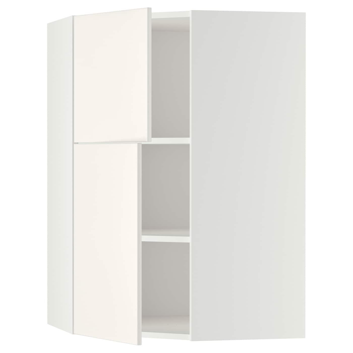 METOD, Wandeckschrank mit Böden/2 Türen, weiß 690.006.20