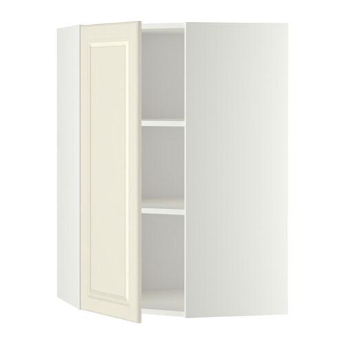 metod wandeckschrank mit b den wei bodbyn elfenbeinwei 68x100 cm ikea. Black Bedroom Furniture Sets. Home Design Ideas