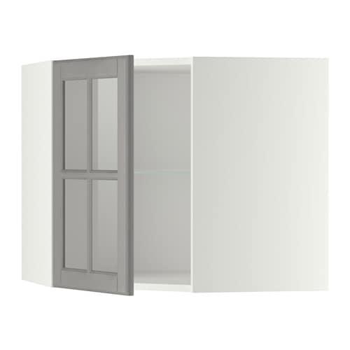 metod wandeckvitrine mit b den wei bodbyn grau 68x60 cm ikea. Black Bedroom Furniture Sets. Home Design Ideas