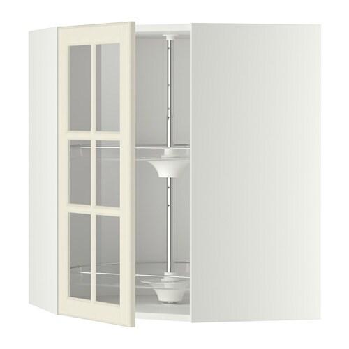 Ikea Eckschrank Mit Karussell ~ METOD Wandeckvitrine mit Karussell Mit versetzbarem Boden; der Abstand