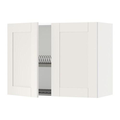 METOD Wandschrank/Abtropfgest./2 Türen - weiß, Veddinge weiß, 80x80 ...