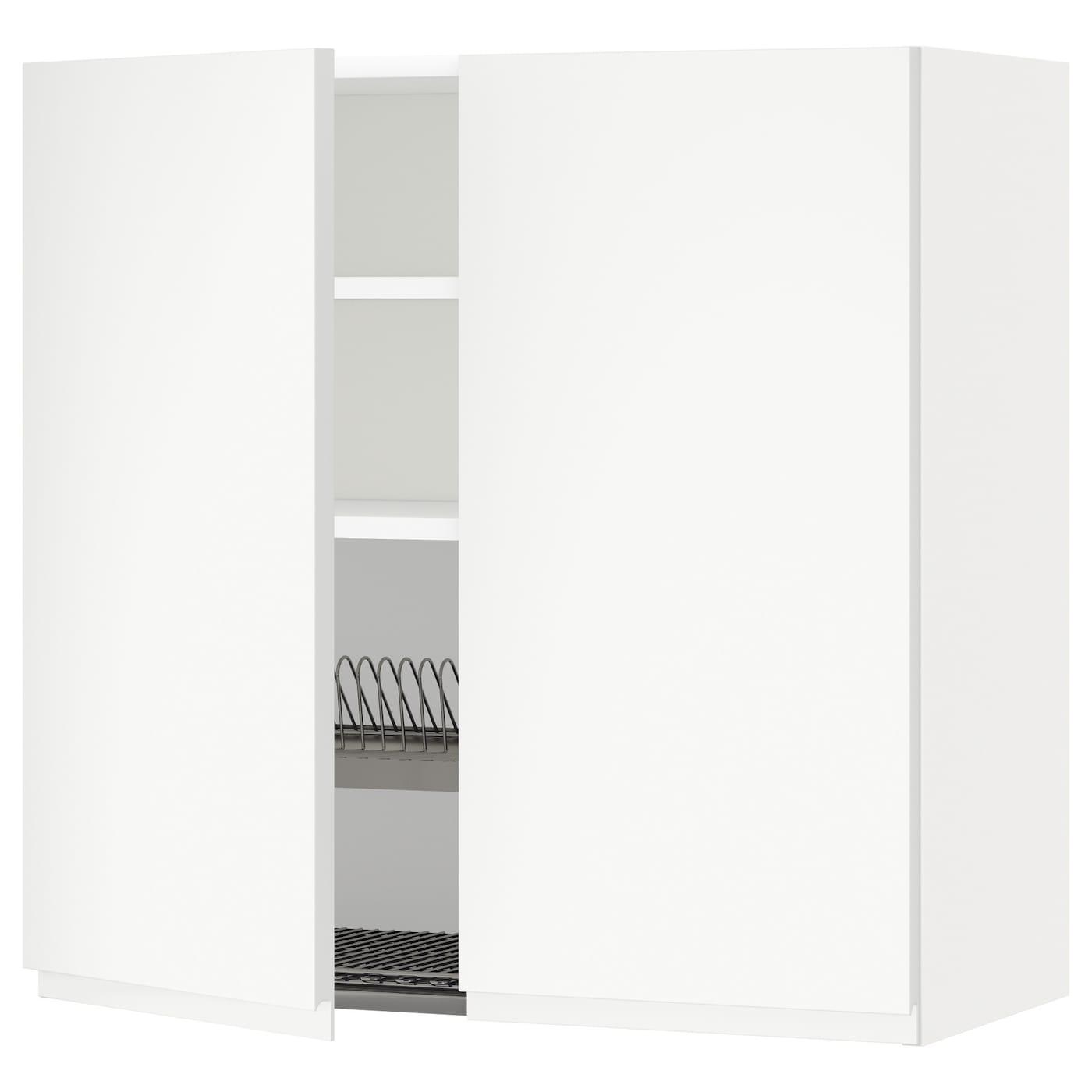 METOD, Wandschrank/Abtropfgest./2 Türen, weiß 591.113.60