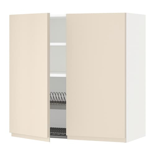 metod wandschrank abtropfgest 2 t ren wei voxtorp hellbeige 80x80 cm ikea. Black Bedroom Furniture Sets. Home Design Ideas