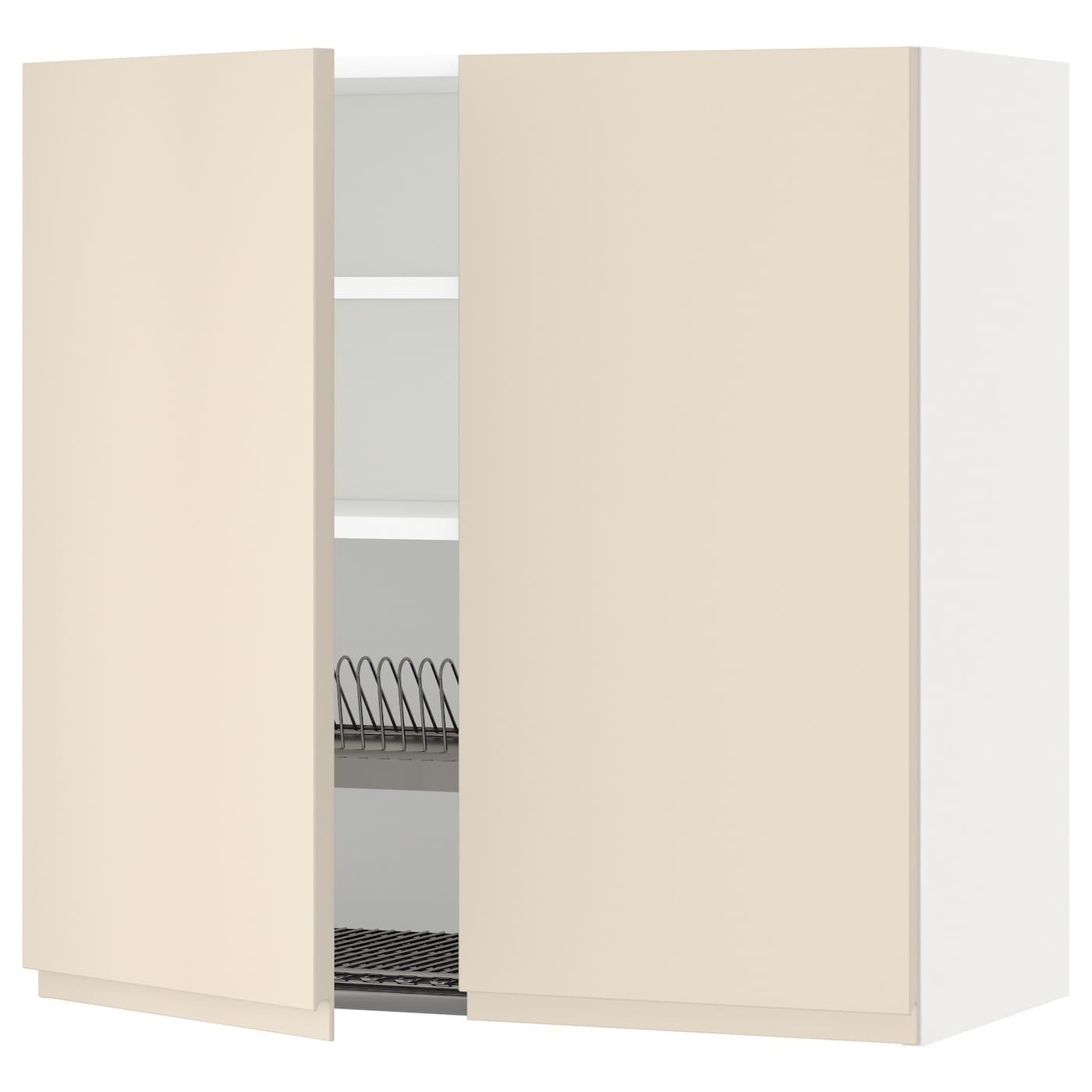 METOD, Wandschrank/Abtropfgest./2 Türen, weiß 591.149.43