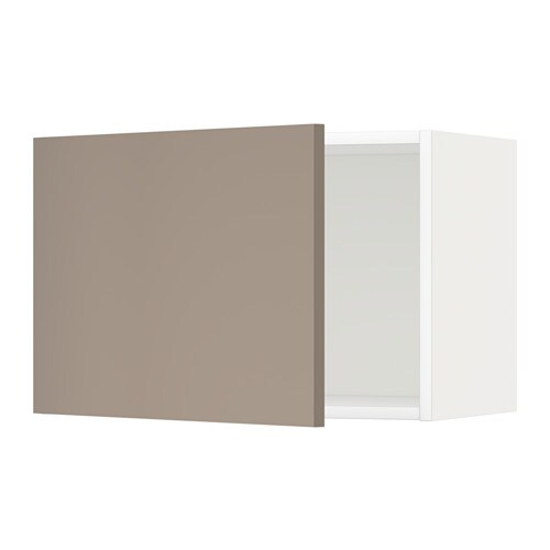METOD Wandschrank - weiß, Ubbalt dunkelbeige, 60x40 cm - IKEA