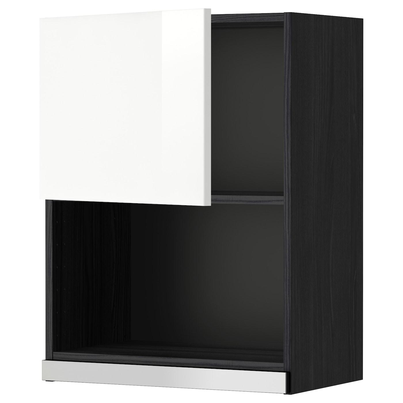 METOD, Wandschrank für Mikrowellenherd, schwarz 299.232.47