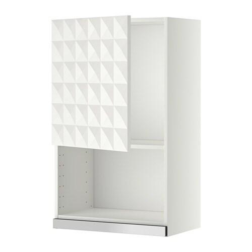 METOD Wandschrank für Mikrowellenherd - weiß, Herrestad weiß, 60x100 ...