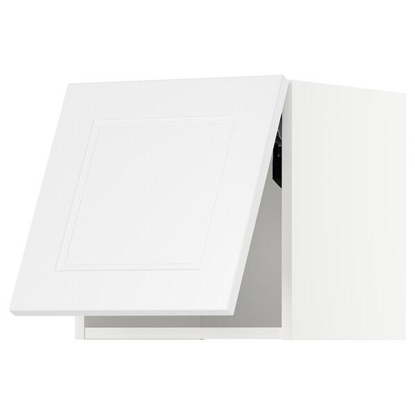 METOD Wandschrank horiz. m Drucksystem, weiß/Axstad matt weiß, 40x40 cm