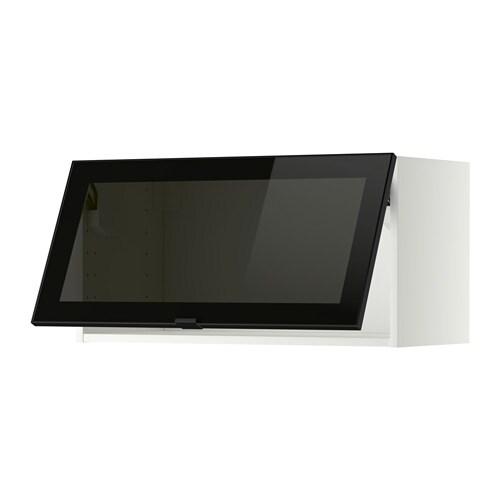 Ikea Vitrinentür metod wandschrank horiz m vitrinentür weiß jutis rauchglas