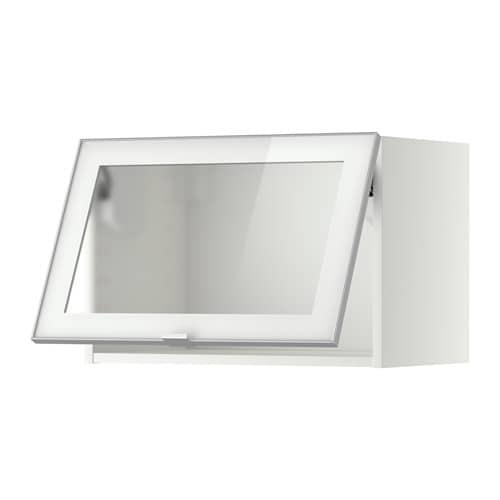 Ikea Vitrinentür metod wandschrank horiz m vitrinentür weiß jutis frostglas