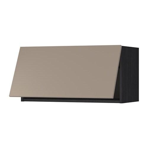 Metod wandschrank horizontal holzeffekt schwarz ubbalt dunkelbeige 80x40 cm ikea - Metod wandschrank ...