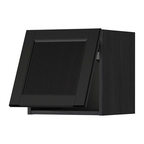Metod wandschrank horizontal holzeffekt schwarz laxarby schwarzbraun 40x40 cm ikea - Metod wandschrank ...