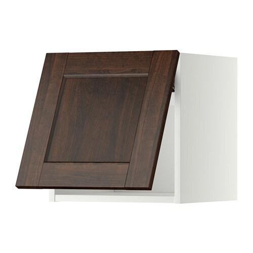 METOD Wandschrank horizontal Edserum Holzeffekt braun