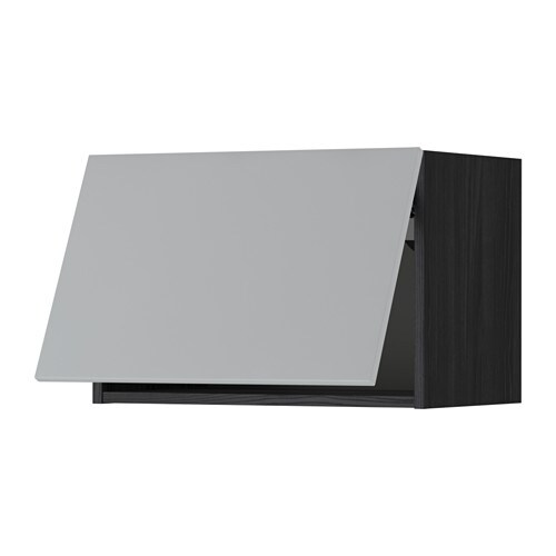 METOD Wandschrank horizontal Holzeffekt schwarz