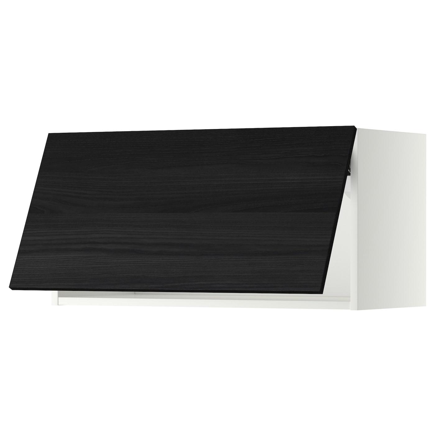 METOD, Wandschrank horizontal, weiß, schwarz 199.181.33