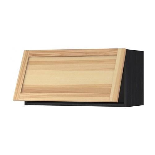 metod wandschrank horizontal holzeffekt schwarz torhamn naturfarben esche 80x40 cm ikea. Black Bedroom Furniture Sets. Home Design Ideas