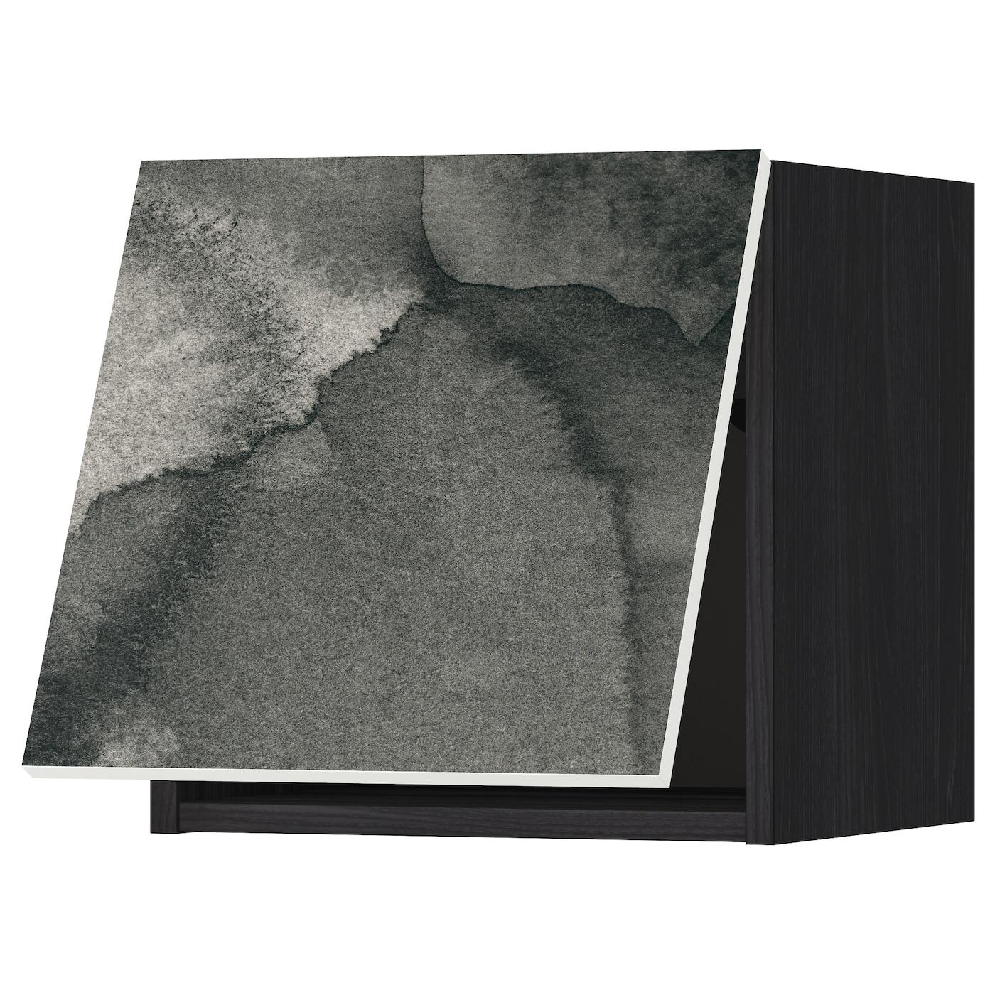 METOD, Wandschrank horizontal, schwarz 091.589.20