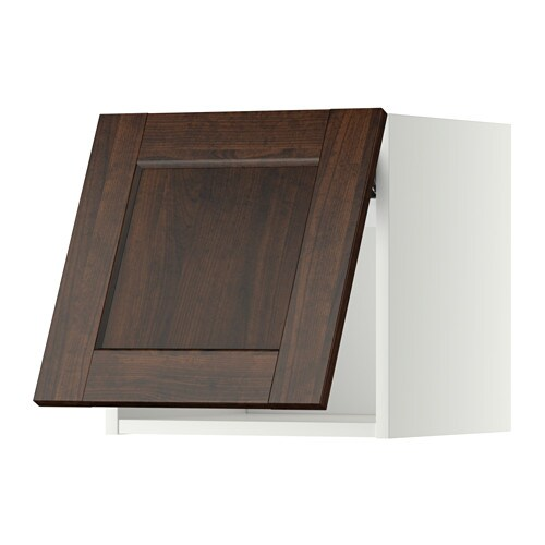 metod wandschrank horizontal wei edserum holzeffekt braun 40x40 cm ikea. Black Bedroom Furniture Sets. Home Design Ideas