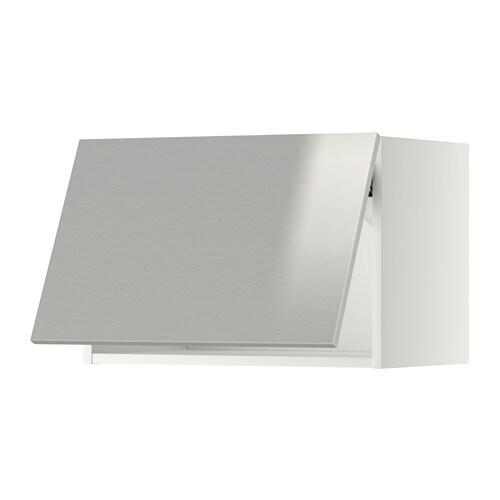 metod wandschrank horizontal wei grevsta edelstahl 60x40 cm ikea. Black Bedroom Furniture Sets. Home Design Ideas