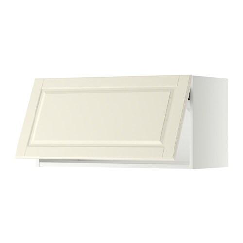 METOD Wandschrank horizontal weiß Bodbyn elfenbeinweiß