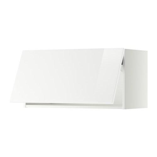 METOD Wandschrank horizontal - weiß, Ringhult Hochglanz weiß, 80x40 ...