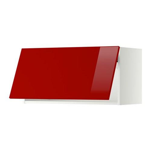 METOD Wandschrank horizontal weiß Ringhult Hochglanz
