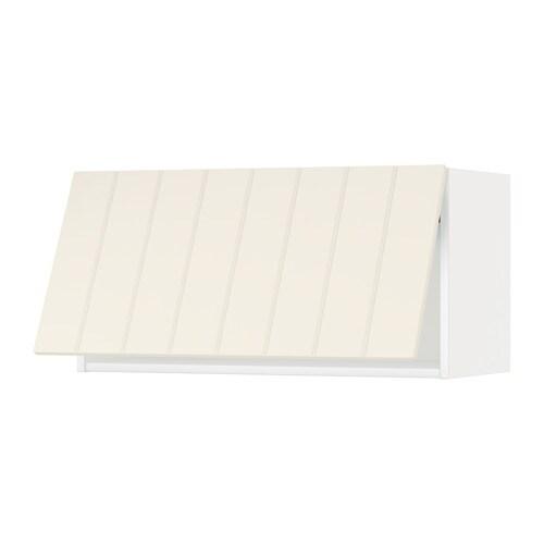 METOD Wandschrank horizontal weiß Hittarp elfenbeinweiß