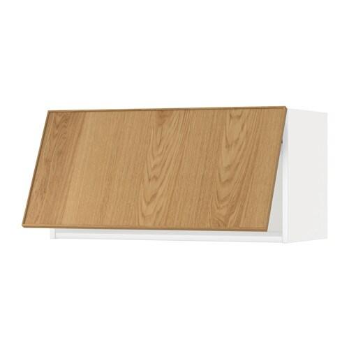 Metod wandschrank horizontal weiss ekestad eiche 80x40 for Wandschrank horizontal
