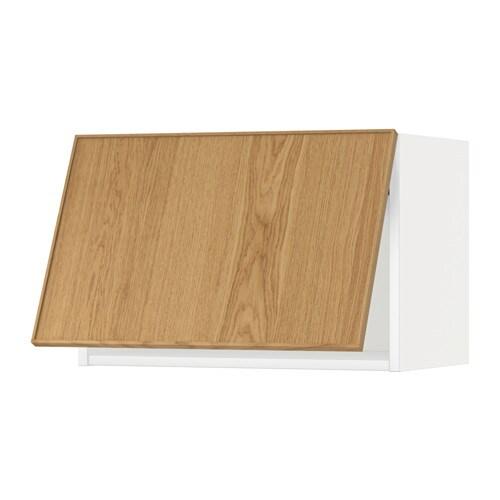 METOD Wandschrank horizontal weiß Ekestad Eiche 60x40