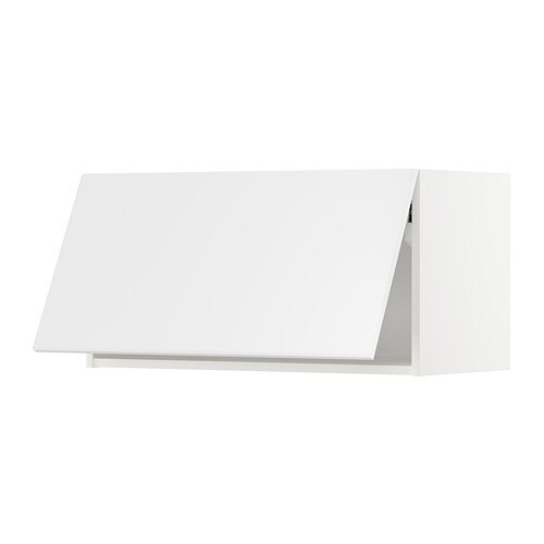 METOD Wandschrank horizontal - weiß, Kungsbacka matt weiß ...