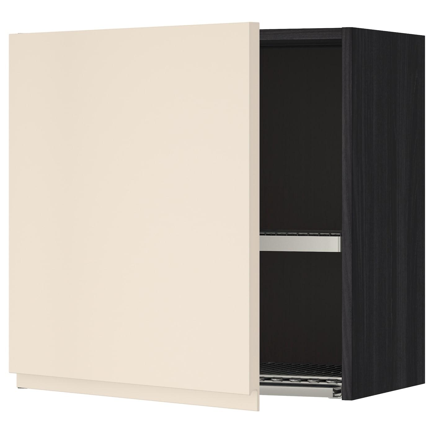 METOD, Wandschrank mit Abtropfgestell, schwarz 791.150.22