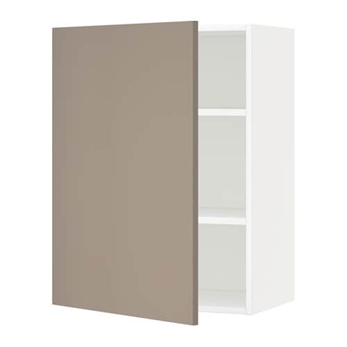 metod wandschrank mit b den wei ubbalt dunkelbeige 60x80 cm ikea. Black Bedroom Furniture Sets. Home Design Ideas