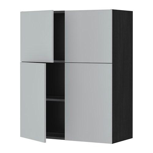 metod wandschrank mit b den 4 t ren veddinge grau holzeffekt schwarz ikea. Black Bedroom Furniture Sets. Home Design Ideas