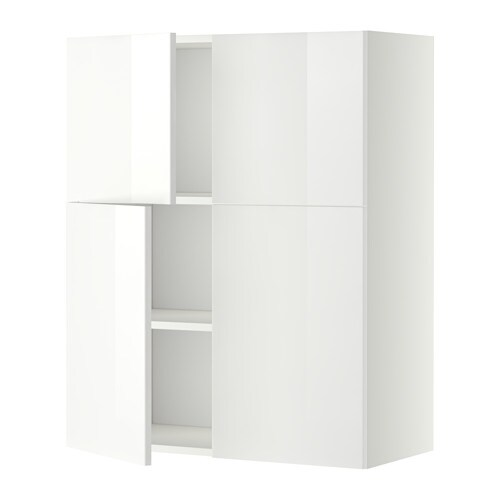 metod wandschrank mit b den 4 t ren wei ringhult hochglanz wei ikea. Black Bedroom Furniture Sets. Home Design Ideas