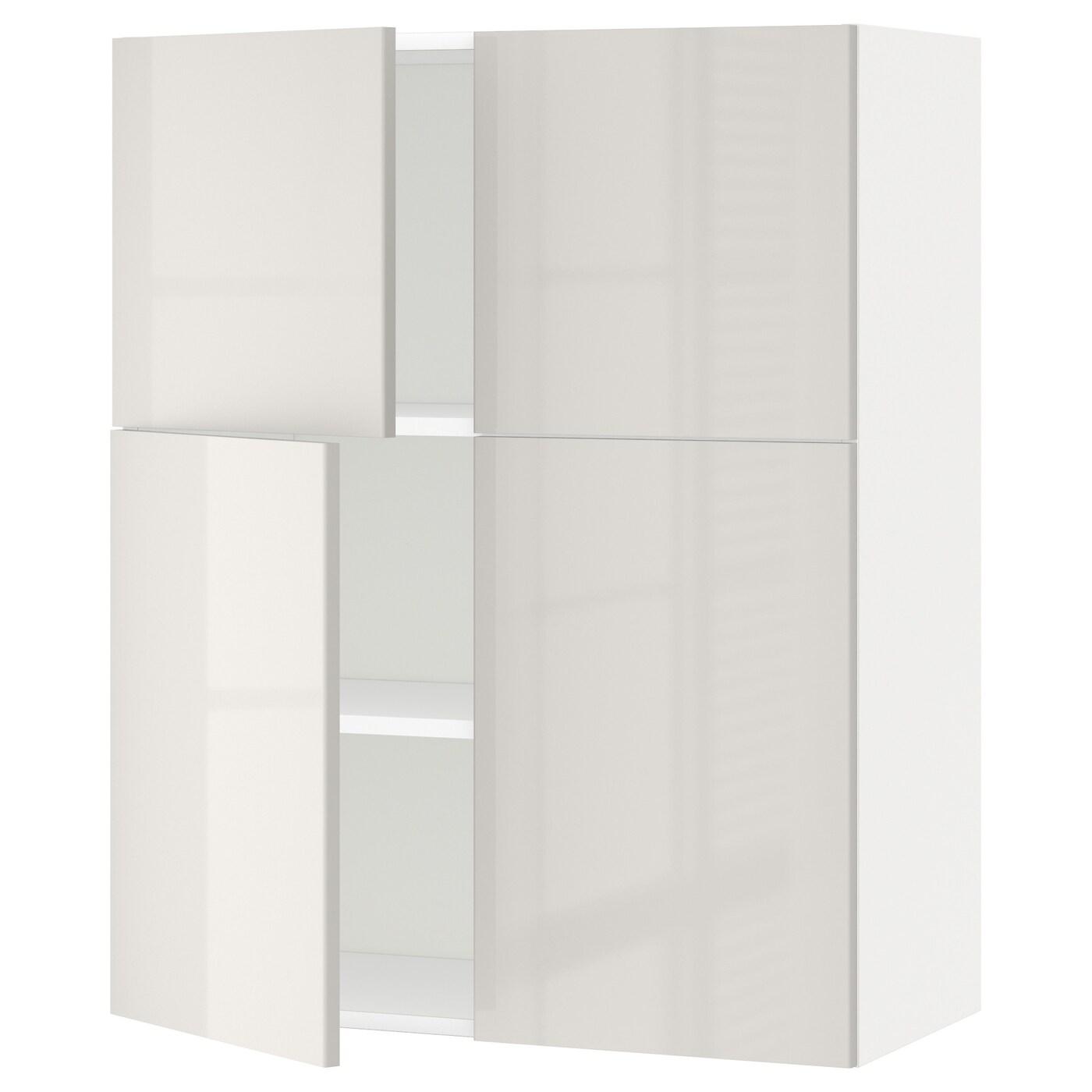 METOD, Wandschrank mit Böden/4 Türen, weiß 191.422.26