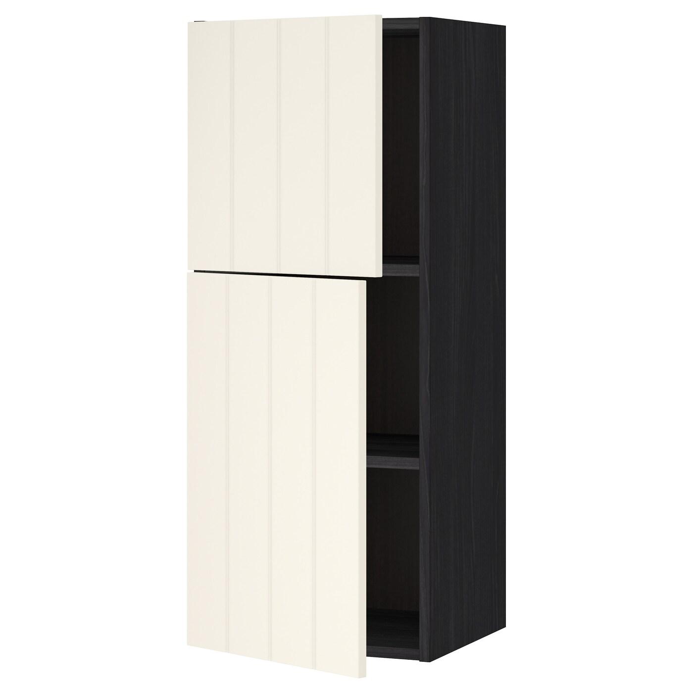 METOD, Wandschrank mit Böden und 2 Türen, schwarz 090.555.16