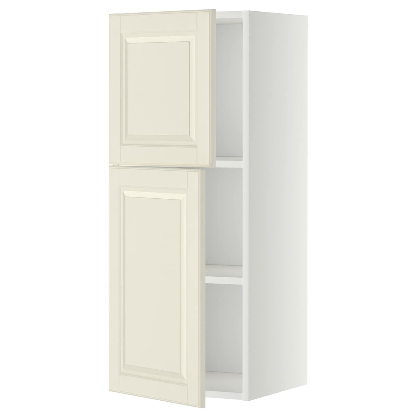 METOD, Wandschrank mit Böden und 2 Türen, weiß 599.178.10