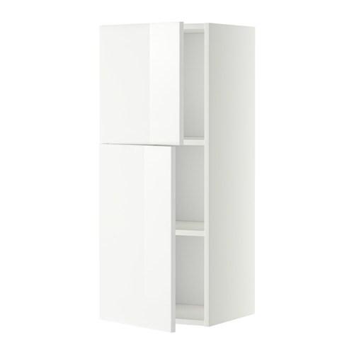 metod wandschrank mit b den und 2 t ren wei ringhult hochglanz wei 40x100 cm ikea. Black Bedroom Furniture Sets. Home Design Ideas