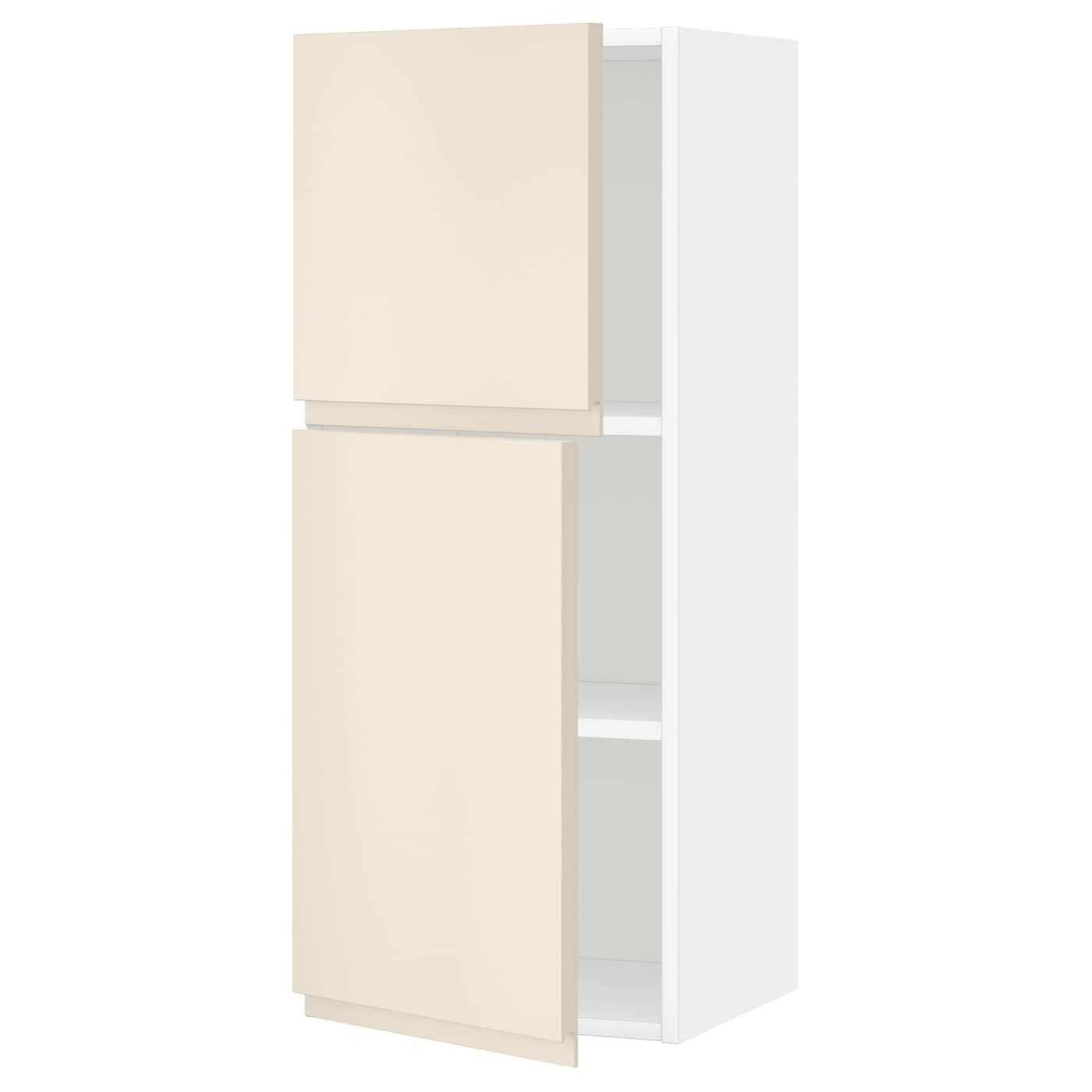 METOD, Wandschrank mit Böden und 2 Türen, weiß 091.149.31