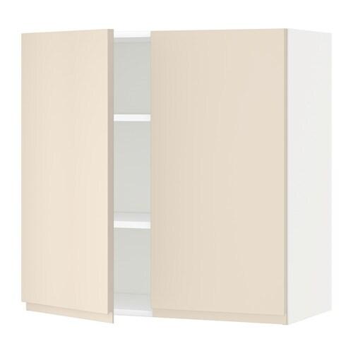 metod wandschrank mit b den und 2 t ren wei voxtorp hellbeige 80x80 cm ikea. Black Bedroom Furniture Sets. Home Design Ideas
