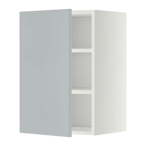 metod wandschrank mit b den wei veddinge grau 40x60. Black Bedroom Furniture Sets. Home Design Ideas