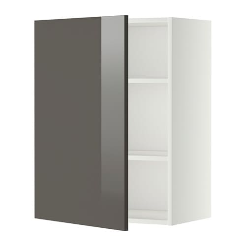 metod wandschrank mit b den wei ringhult hochglanz grau 60x80 cm ikea. Black Bedroom Furniture Sets. Home Design Ideas