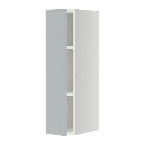 metod wandschrank mit b den wei veddinge grau 20x80 cm ikea. Black Bedroom Furniture Sets. Home Design Ideas